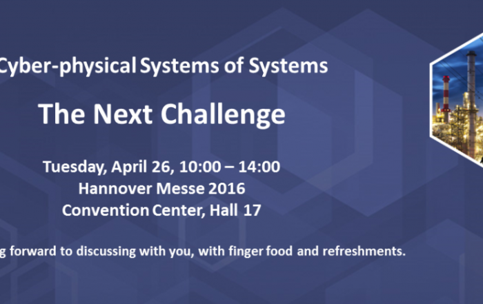"Public workshop of the European project CPSoS: ""Cyber‐physical Systems of Systems – The Next Challenge"""